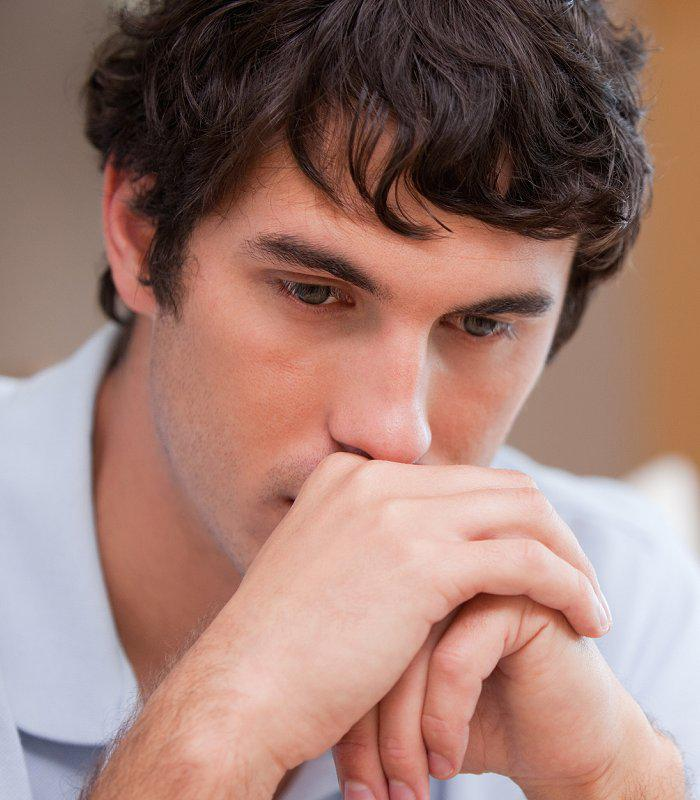 Young Man contemplates his dual diagnosis program moving forward.